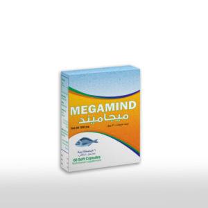 MegaMind كبسولات زيت السمك وهي من المكملات الغذائية